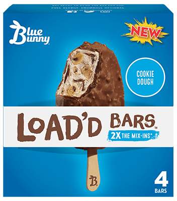 Load'd Bars™ Cookie Dough Front View Package