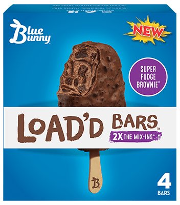 Load'd Bars™ Super Fudge Brownie® Front View Package