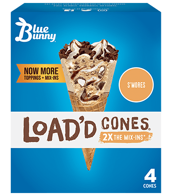 Load'd Cones® S'mores Front View Package