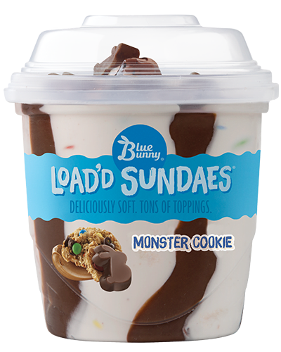 Load'd Sundaes® Monster Cookie Front View Package