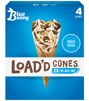 Load'd Cones® Cookie Dough Front View Package