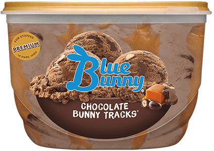 Chocolate Bunny Tracks® Front View Package