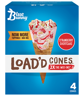 Load'd Cones® Strawberry Shortcake Front View Package