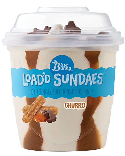 Load'd Sundaes® Churro Front View Package