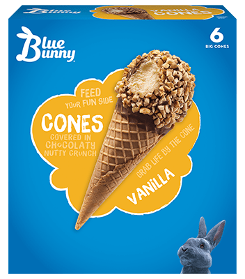 Vanilla Cones Front View Package