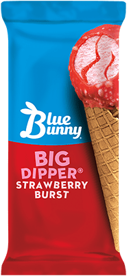 Big Dipper® Strawberry Burst Cone Front View Package