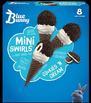 Cookies 'n Cream Mini Swirls® Front View Package