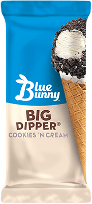 Big Dipper® Cookies 'NCream Cone Front View Package
