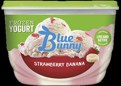 Strawberry Banana Frozen Yogurt Front View Package