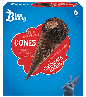 Chocolate Lovers® Cones Front View Package