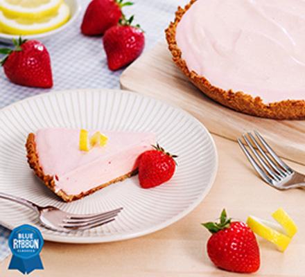 Strawberry Lemonade Ice Cream Pie