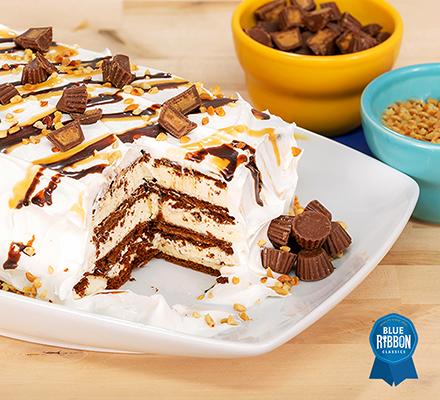 Easy Peanut Butter Ice Cream Cake