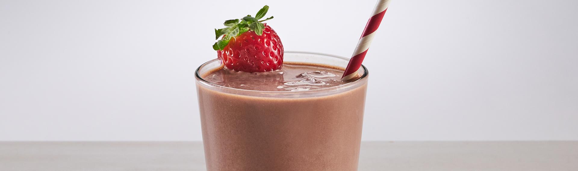 Dark Chocolate Strawberry Shake